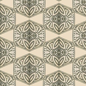 Ornate Antique Hexagonal Tiles