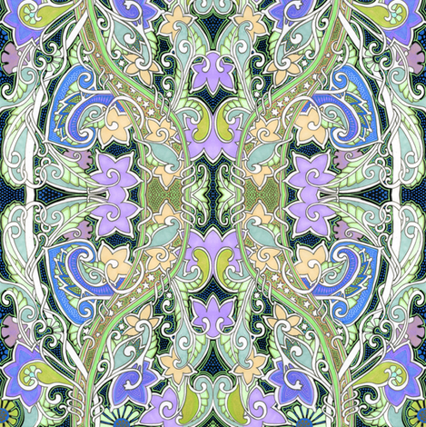 If You Are Not Quiet You'll Wake the Fairies fabric by edsel2084 on Spoonflower - custom fabric