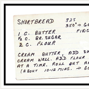 shortbread recipe tea towel