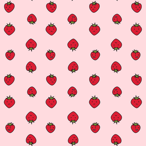 strawberry dots fabric by eleventy-five on Spoonflower - custom fabric