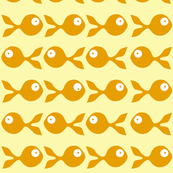 fish swimming (orange and yellow)