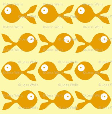 fish swimming in orange and yellow