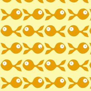 fish swimming in orange and yellow