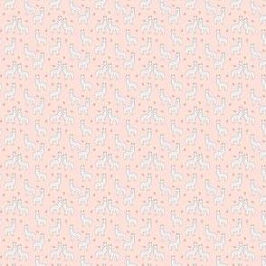 alpaca // micro print baby pink tiny tiny soft pink alpaca llama fabric print