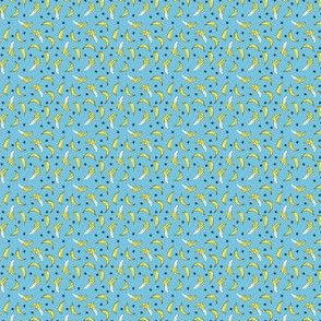 Bananas - Soft Blue (Mini) by Andrea Lauren