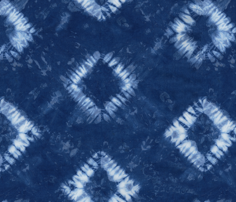 Shibori 01 Indigo fabric by theplayfulcrow on Spoonflower - custom fabric