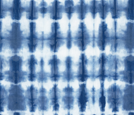 Shibori 02 Indigo fabric by theplayfulcrow on Spoonflower - custom fabric