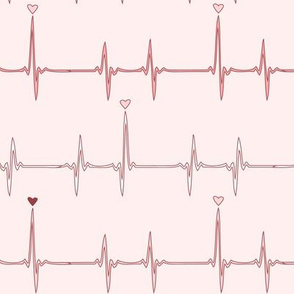 heartbeat (red and pink)