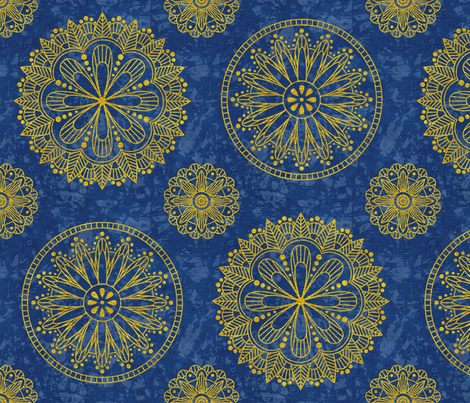 Shibori and Gold 05 fabric by theplayfulcrow on Spoonflower - custom fabric