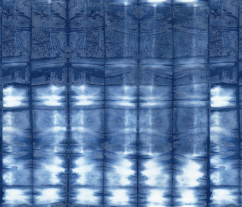 Shibori 19 Indigo fabric by theplayfulcrow on Spoonflower - custom fabric