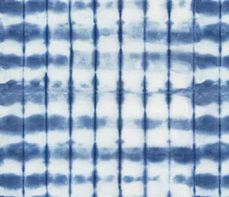 Shibori 20 Indigo fabric by theplayfulcrow on Spoonflower - custom fabric