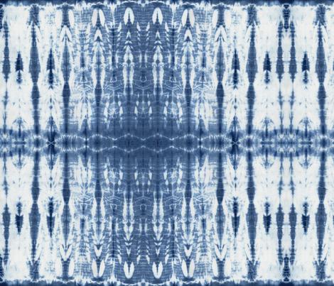 Shibori 21 Indigo fabric by theplayfulcrow on Spoonflower - custom fabric