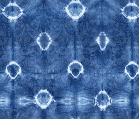 Shirbori 22 Indigo fabric by theplayfulcrow on Spoonflower - custom fabric
