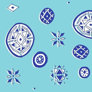 Blue Ornaments