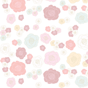 roses floral pattern (lightened reds)
