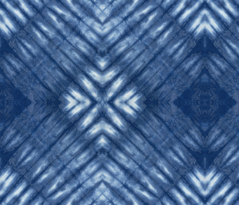 Shibori 25 Indigo fabric by theplayfulcrow on Spoonflower - custom fabric