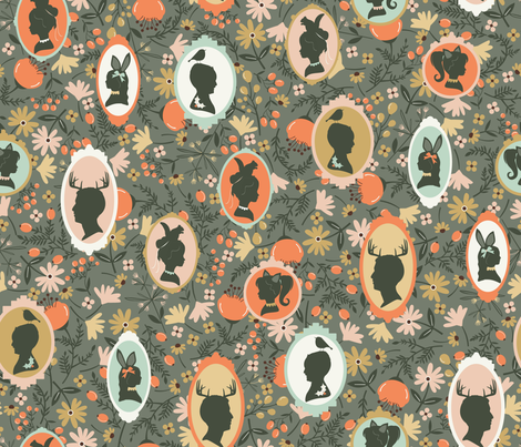 Family Portrait fabric by oliveandruby on Spoonflower - custom fabric