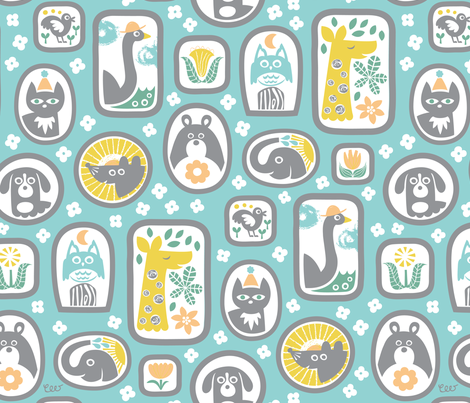Substitute Family Blue fabric by studio_amelie on Spoonflower - custom fabric