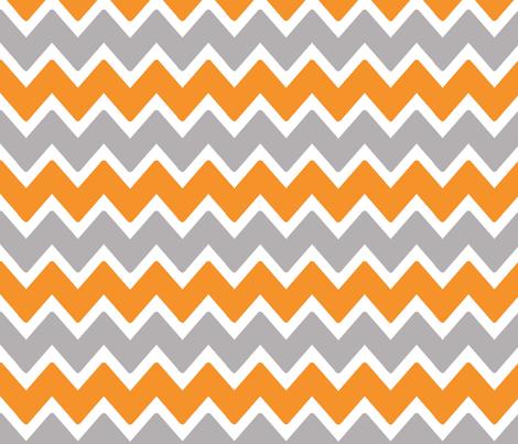 Orange Grey Gray Chevron Zigzag fabric by decamp_studios on Spoonflower - custom fabric