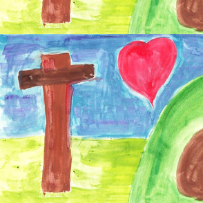 empty cross, empty tomb, full heart