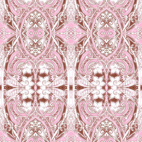 Like Totally Hearts and Flowers Femme Stuff-ch fabric by edsel2084 on Spoonflower - custom fabric