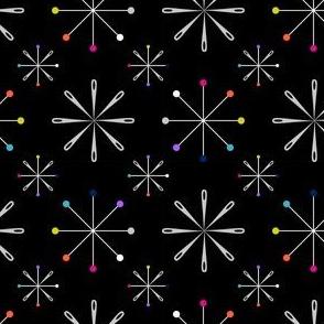 Atomic Pins and Needles Black Small