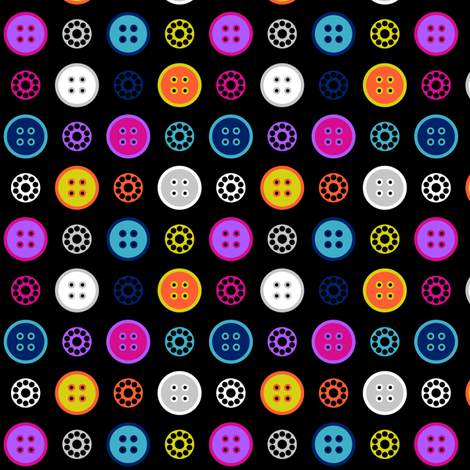 Button and Bobbin Dot Black Small fabric by modgeek on Spoonflower - custom fabric