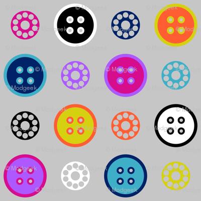 Button and Bobbin Dot Grey Small