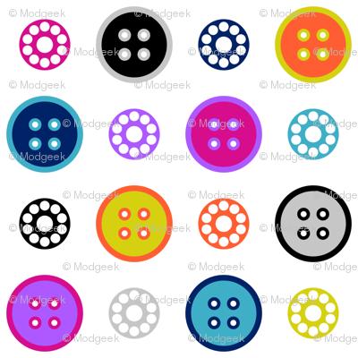 Button and Bobbin Dot White Small