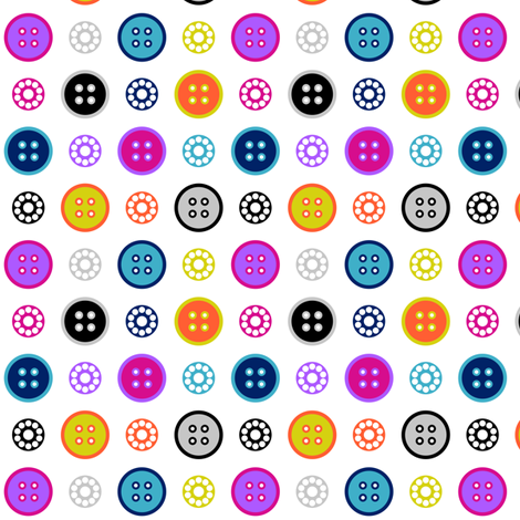 Button and Bobbin Dot White Small fabric by modgeek on Spoonflower - custom fabric