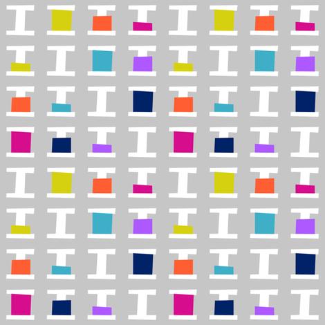 Thread Spools Grey Small fabric by modgeek on Spoonflower - custom fabric