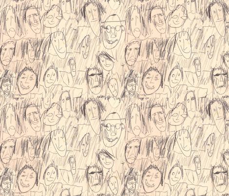 Family_Gathered fabric by ruthjohanna on Spoonflower - custom fabric