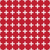 Cross White/Red