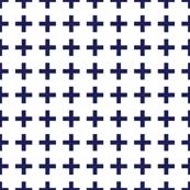 Cross Navy/White