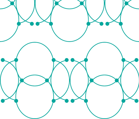 Teal Victorian Circles fabric by bellwether_designs on Spoonflower - custom fabric