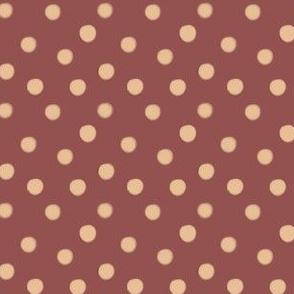 Boho Dots | Creme Brule Spots on Marsala | Wine and Cream Polka Dot