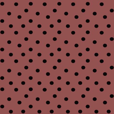 Boho Dots | Black Spots on Marsala | Wine Polka Dot fabric by bohobear on Spoonflower - custom fabric