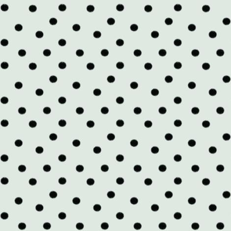 Boho Dots   Black Spots on Mint Blue   Polka Dot fabric by bohobear on Spoonflower - custom fabric