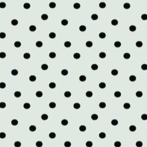 Boho Dots | Black Spots on Mint Blue | Polka Dot
