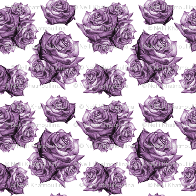 Rose Pattern Monochromatic Purple