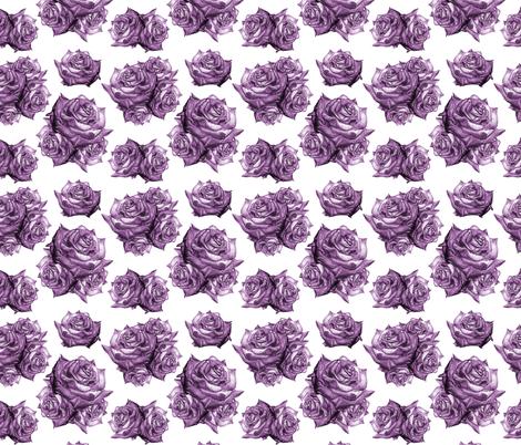 Rose Pattern Monochromatic Purple  fabric by nellik on Spoonflower - custom fabric