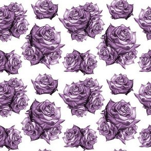 Rose Pattern Monochromatic Purple