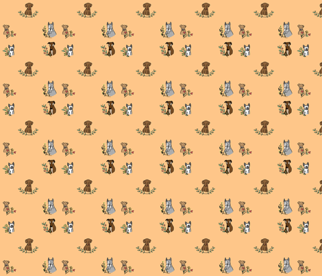 Pup 'N' Florals fabric by nhdesigns on Spoonflower - custom fabric