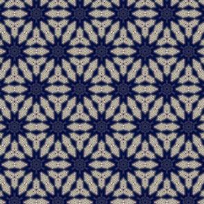 stitched batik stars