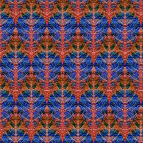 Leaf Diamond blue