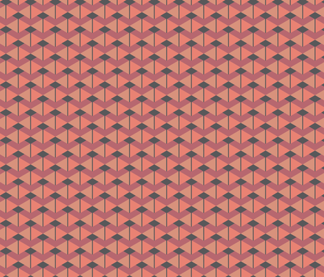 Double Triangles Cinnamon fabric by designsld on Spoonflower - custom fabric