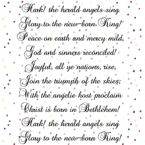 Hark the Herald Angels Sing | Christmas Song fabric by bohobear on Spoonflower - custom fabric