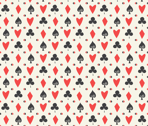 cards // suits spade alice in wonderland coordinate fabric pattern print diamond clover  fabric by andrea_lauren on Spoonflower - custom fabric