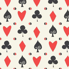 cards // suits spade alice in wonderland coordinate fabric pattern print diamond clover