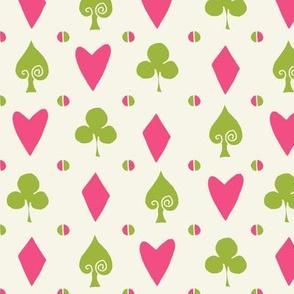 cards // suits spade heart diamond clover alice in wonderland fairy tale coordinate
